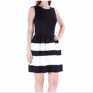 🎉 SALE Striped COLORBLOCK FIT & FLARE DRESS